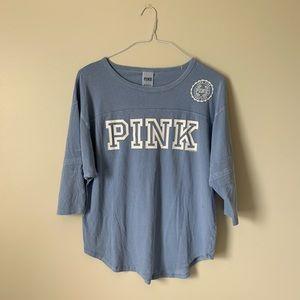 Blue VS Pink Base Ball Style Tee